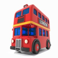 cartoon double decker 3d max