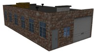 warehouse house 3d max