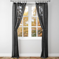 curtain pottery barn 3d model