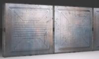 sci-fi wall panel vx 3d model