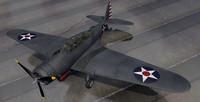 douglas tbd-1 devastator bomber 3d 3ds