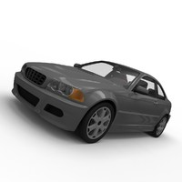 3d generic sport coupe