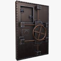 3d model old bunker door