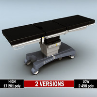 Operating surgical table low poly high