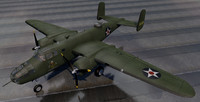 north american b-25b mitchell 3d 3ds