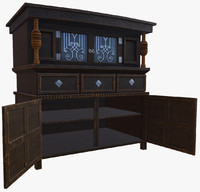 old wooden cupboard 3d model