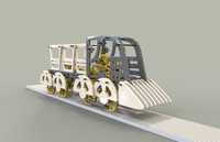3d constructor train model
