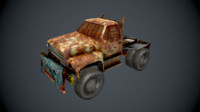 post apocalypse truck 3d obj