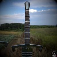 long sword sheath 3d model