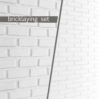 white bricks 3d model
