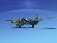 radial douglas invader bomber 3d dxf