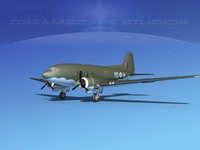 3d model douglas c-47 dakota