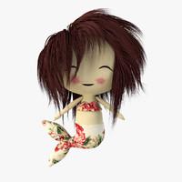 mermaid hair c4d