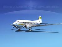 douglas c-47 dakota 3d max