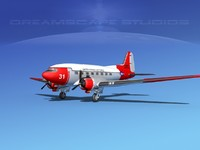 douglas c-47 dakota 3d dxf