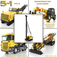 construction machinery 5 1 3d model