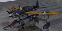 3d model vought os2u kingfisher