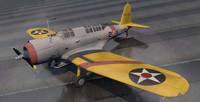 3d model vought vindicator bomber