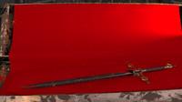 3d model dark sword