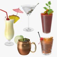 3d 5 cocktails model