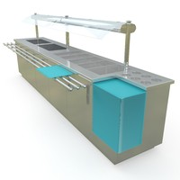 3d food servery model