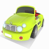 Toon Convertible Car