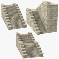 3d castle stairs