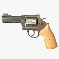 obj pbr revolver games ready