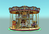 3d carousel toy atlkarunca model