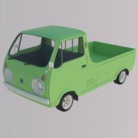 japanese porter cab 1970 3d model