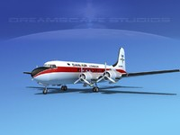 dc-4 propellers gear 3d max