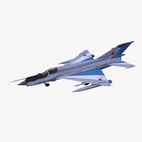 mikoyan-gurevich mig-21-93 fighter aircraft 3d model