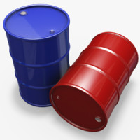 barrel modeled realistic 3ds