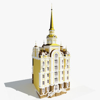 town hall 3d model