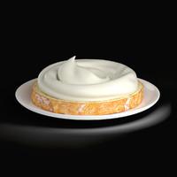 bread sour cream 3d model