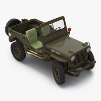 3d jeep willys m38 rigged