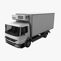 3d mercedes-benz atego truck