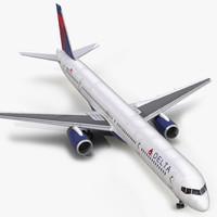 3d model boeing 757-300 delta air lines
