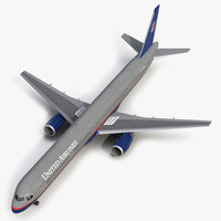 boeing 757-300 united airlines 3d 3ds