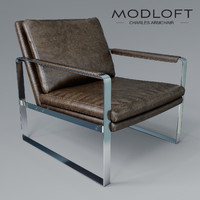 3d model charles armchair