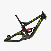 3d mountain bike frame model