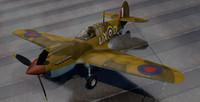 3d model curtiss tomahawk rsaaf fighter aircraft