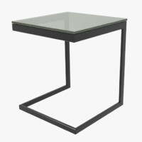 lounge table glass 3d model