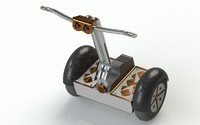 segway vehicle 3d obj