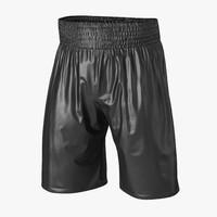 boxing trunks black 3d model