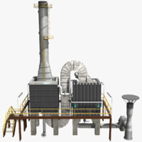 3d model crude oil furnace