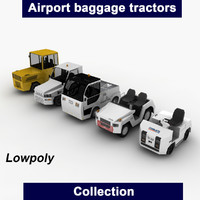 3d model airport baggage