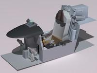 3d model f-5e tiger cockpit