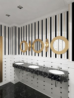 washroom restaurant 3d model