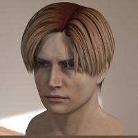 male head 3d obj